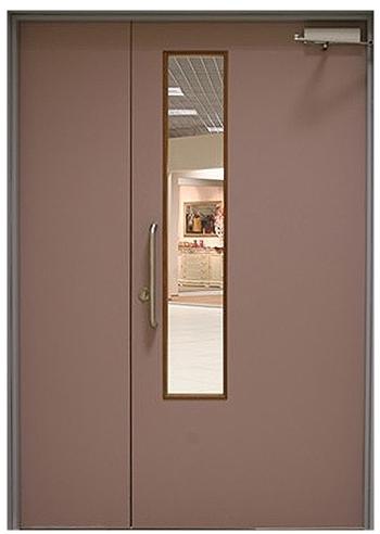 тамбурные металлические двери с окном